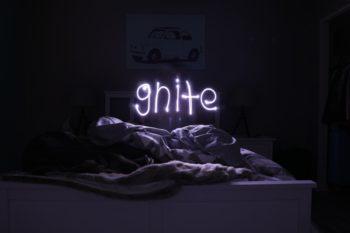 gnite neon sign