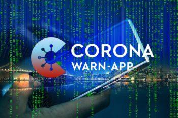 Smartphone City Skyline Hand - Corona Warn App